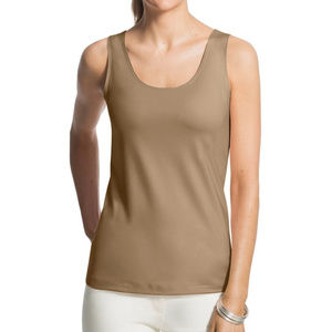 CHICO'S Beige Nylon Contemporary Tank Top Sz 3 =16